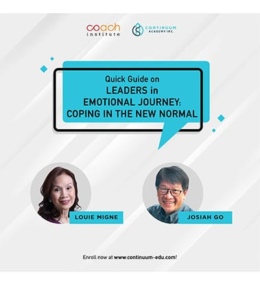Leaders in Emotional Journey: Coping in the New Normal